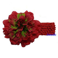 "Baby Girls Red 4.5"" Camellias Headband Hair Accessories"
