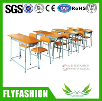 chairs with tables attached/modern classroom furniture/school desk and bench