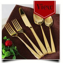 stock lots stainless steel Spoon and 3 pcs Tableware set Spoon fork knife tableware closeout