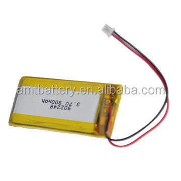 Long cycle life ROHS CE small 3.7V 900mAh Li-polymer battery for Speaker device