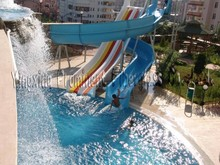 Hotel pool entertainment item fiberglass water slide