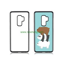 Sublimation 2D Soft Rubber Blank TPU Phone Case For Samsung S9 plus