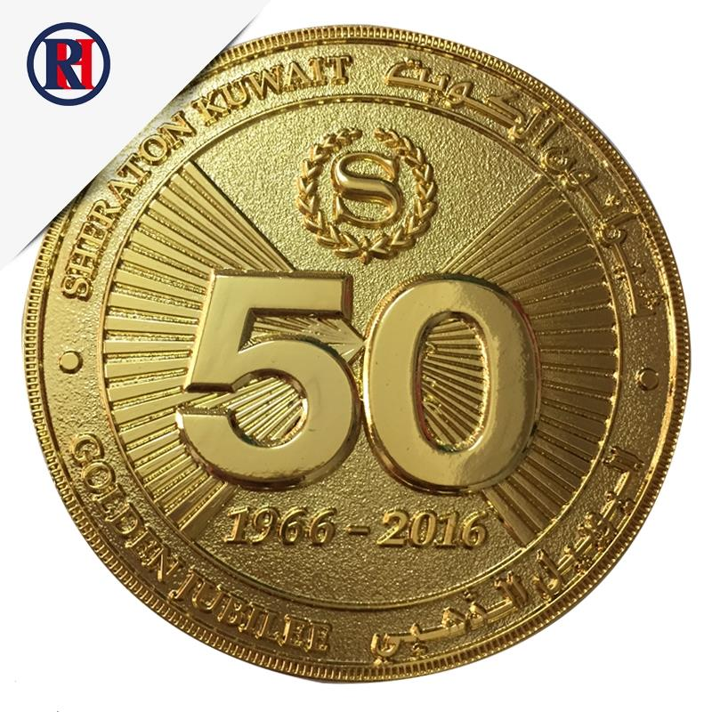 Beautiful design 2D / 3D custom gold challenge coin
