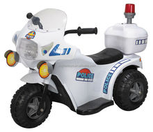 Eco-friendly Plastic 3 wheels Police motorcycle battery powered ride on car battery motorcycle for kids