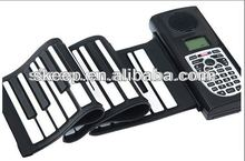 2012 hot selling large 49keys USB sock roll piano for promotion