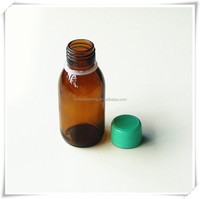 3 oz amber liquid glass bottle
