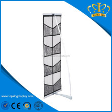 portable mesh brochure holder,portable literature stands,mesh fabric magazine holders