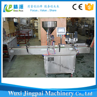 Manual and automatic mutual filling and capping machine