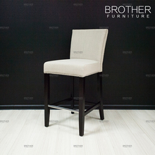 Modern bar furniture white fabric high bar stool chair with back