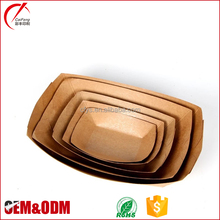 Custom printing food grade hot dog kraft paper tray