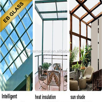 temperature control smart glass, temperated laminated glass,EB Glass