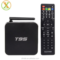 100% Original Amlogic S905 T95 TV Box Full HD 4k Metal Case T95 S905 Android TV Box Make Your TV Smart Dual WIFI With Antenna