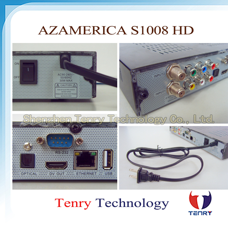 2014 azamerica s1008 digetal satellite receiver twin tuner hd iks and sks iptv hdmi azamerica s1008