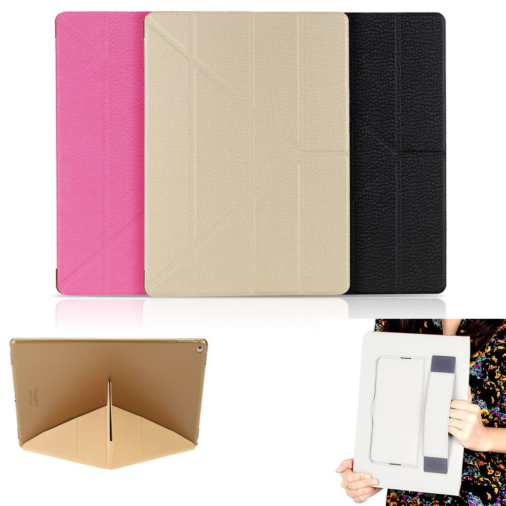 Big Sales Luxury PU Leather Magnetic Folding Flip Stand Case Tablet Cover Auto Sleep Wake Up Function for Apple iPad Pro 12.9""