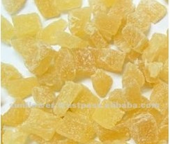 High Quality Crystalized sugar Ginger Slices, Dice