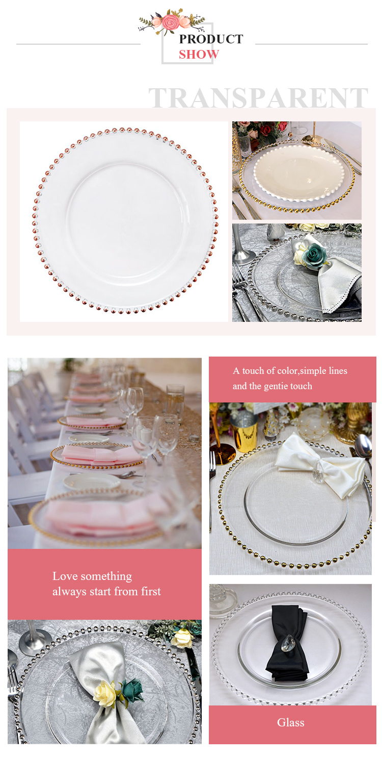Cheap Wedding Rose Gold Charger Plate