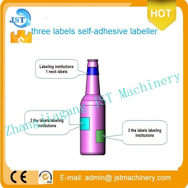 High quality assured vertical round bottle positioning labeling making machine