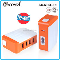 Travel power adapter plugs 4 usb output universal charger