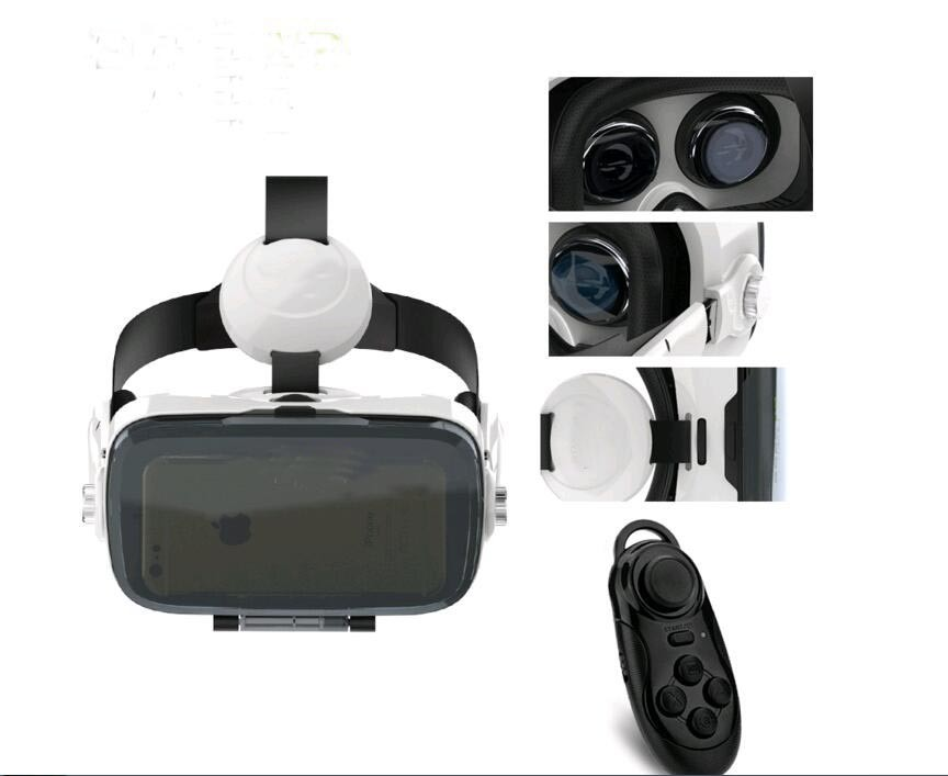 VR Box 120 FOV Virtual Reality VR 3D Movie Video Game Glass with Headphone for 4.7-6.2 inch Phone