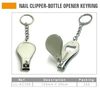 Nail Clipper With Bottle Opener Keyring
