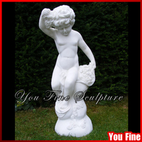 Garden Western Life Size Marble Nude Child Statue