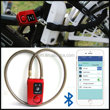 Excellent Anti Theft Smart Sensor Alarm Lock Digital Keyless Bike Cable Lock