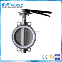 Ductile Iron DN300 PTFE Seat Wafer Butterfly Valve