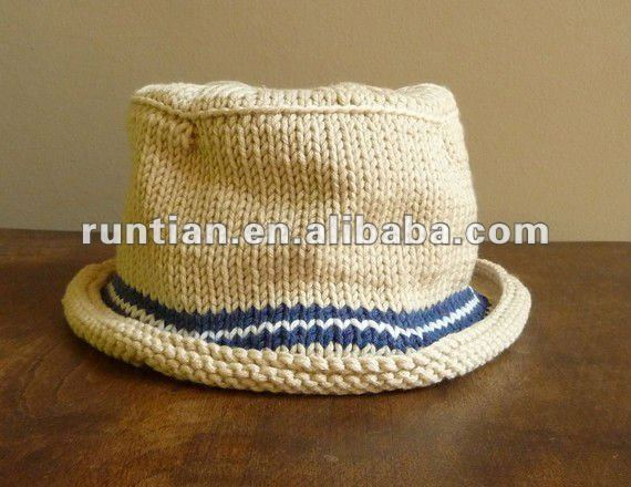 NEW Hand knit Infant Bucket Fisherman Hat
