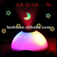 2014 NEW Color Change LED Magic Digital Stars Moon Projection Projector Alarm Clock