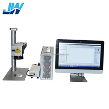 Jingwei CAS /Max /Raycus/ IPG 20W/30w/50w split fiber laser marking machine for metal,watches,camera,auto parts,buckles