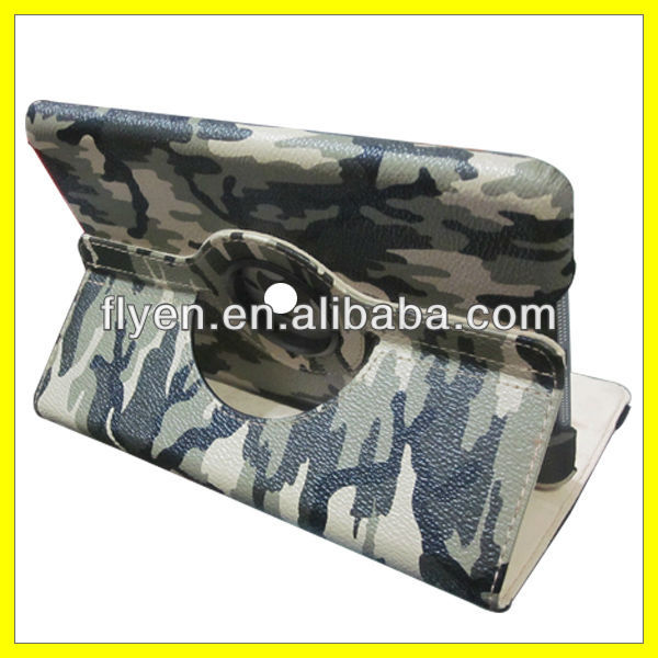 Army Camouflage Coat Style 360 Rotating Case Leather for iPad mini Smart Cover Magnetic Stand Manufacturer Wholesale