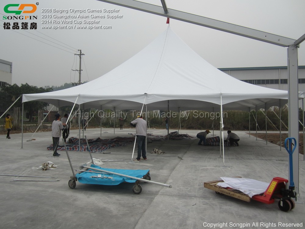 12x12m High Peak Pole Tent In Galvanized Steel Frame And