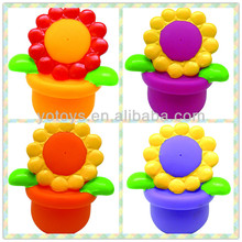 Eco-friendly baby bath squirts rubber flower/ baby rubber flower/ bath squirt rubber flower