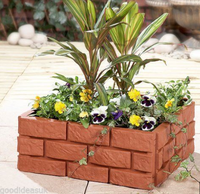 decorative plastic garden brick edging for patio fence