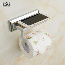 2017 Accessories For Bathroom 57933 Brass Chrome Plated Paper Toilet Holder With Mobile Phone Shelf