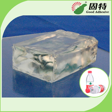 PSA Transparent Block Hot Melt Adhesive for Labeling on Plastic Bottles