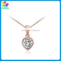 Bulk New Year's Gift Necklace Rose Gold Jewelry Lady Heart Necklace