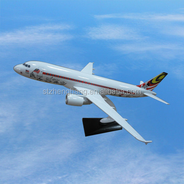 A320 Airbus resin airplane model with stand promotion gift all scale options simulator from Boeing, Airbus, Bombardier