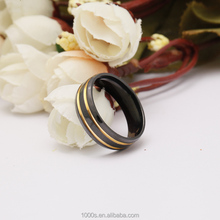 Black Titanium Steel Gold Plated Ring For Promotion Gifts