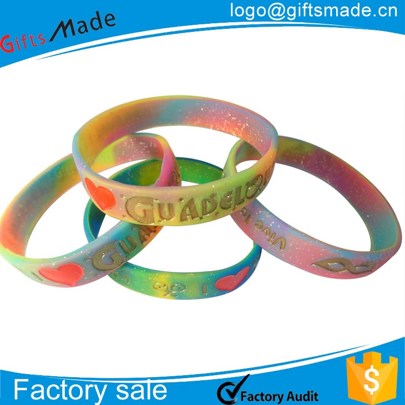 Customized multi-color silicone wrist band cheapest silicone bracelets,Top grade silicon rubber band,custom make rubber bracelet
