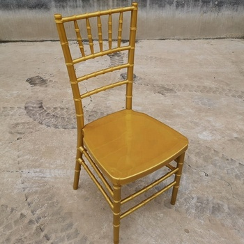 Cheap Modern Wedding Dinning Banquet Gold PP Resin Metal Chiavari Chair