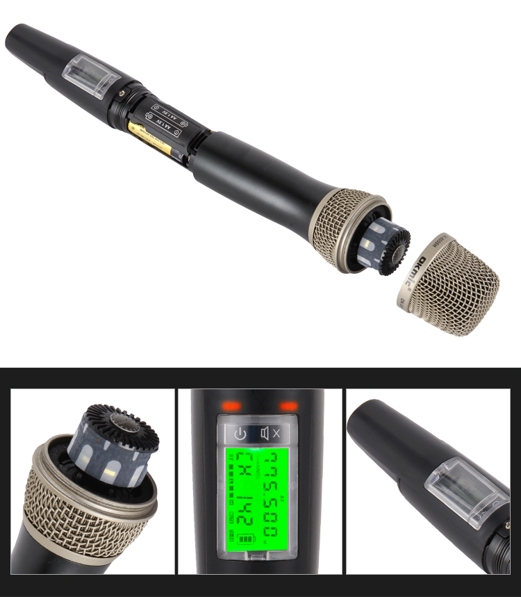 High quality professional handheld microphone wireless for singer
