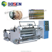 PVC Roll Stretch Film Non Woven Paper Aluminum Foil Slitting and Rewinding Machine