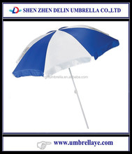 All well know factory business cooperation manufacture wholesale white and blue sun umbrella