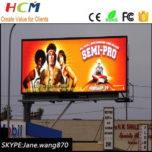 Waterproof p10 p16 p20 outdoor led display billboard advertising with pole