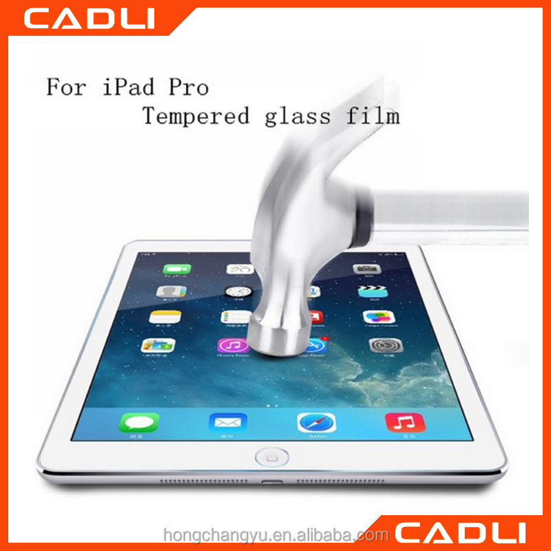 "Factory price Ultrathin 0.33mm Explosion-Proof Tempered Glass For Apple iPad Pro 12.9"" Screen Guard"