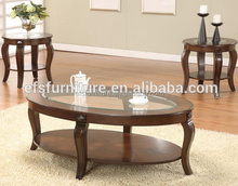 New design Fancy living room furniture modern round glass coffee dining table set