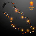 New Design Light Up Candy Corn Halloween Necklace