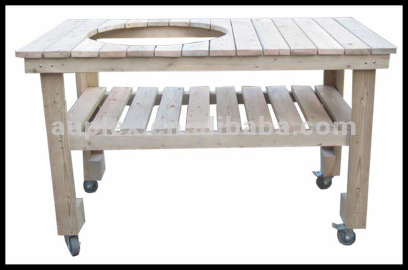 table en bois panier pour int gr barbecue accessoires de. Black Bedroom Furniture Sets. Home Design Ideas