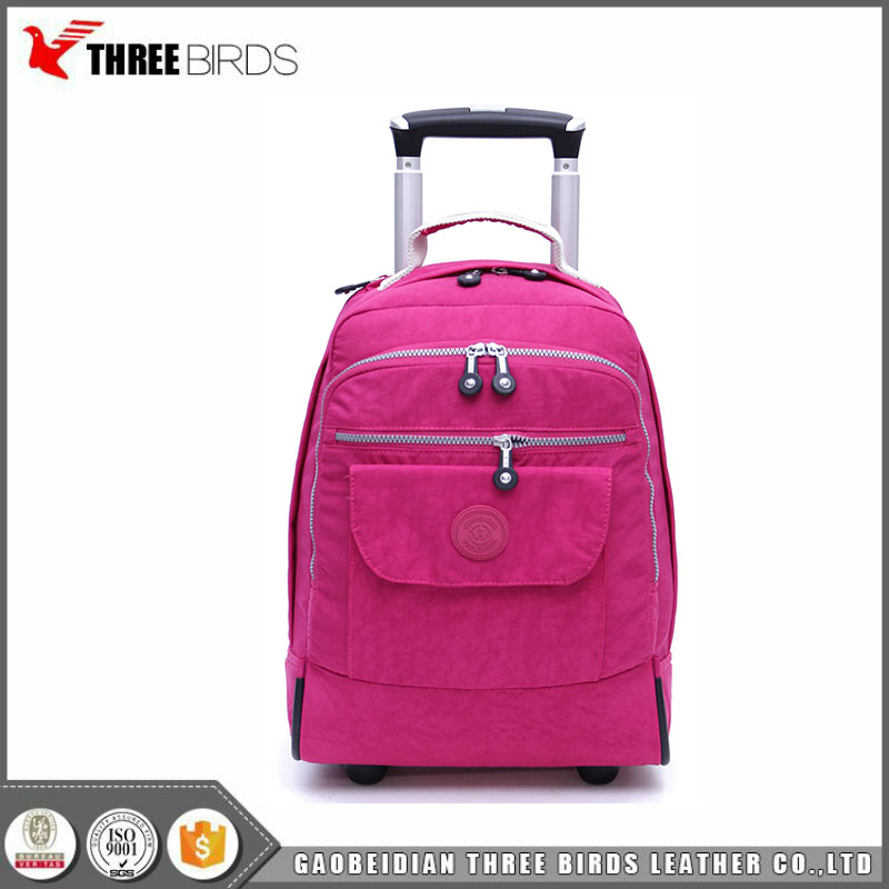 Promotion large capacity business canvas cabin size trolley travel laptop bag